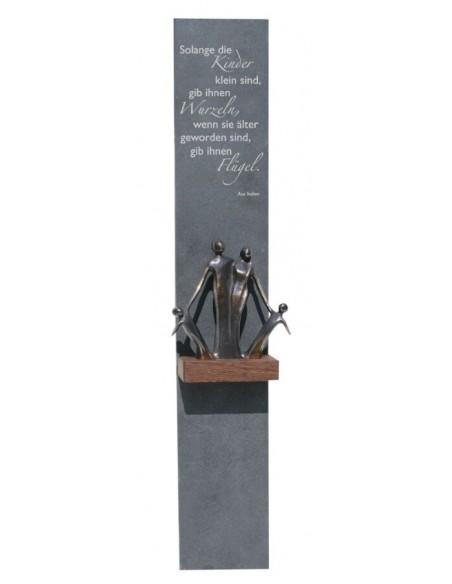 "Decor ""Familie"", piatra si bronz masiv"