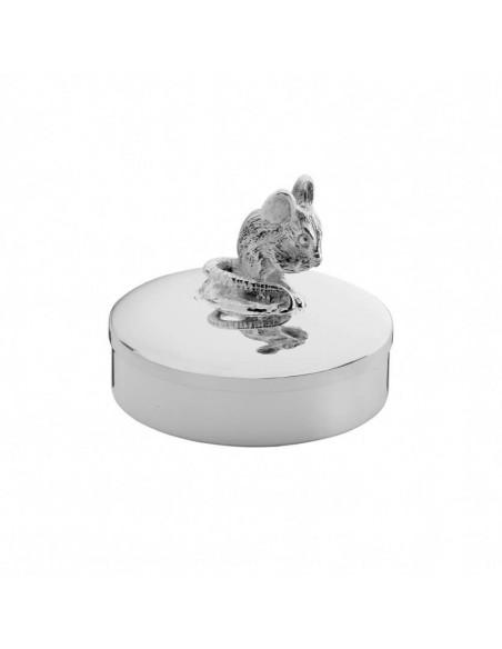 Cutiuta argint masiv primul dintisor sau mot