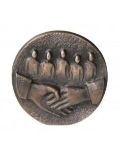 """Relief bronz """"Va multumim"""""""