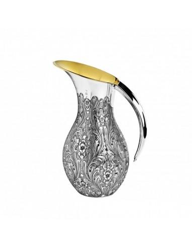 Carafa argint masiv placata cu aur Signature